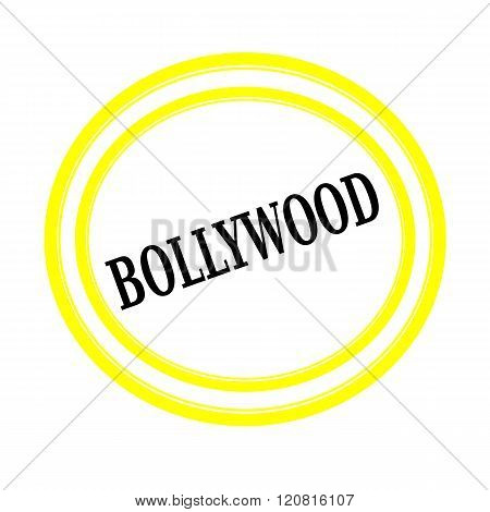 BOLLYWOOD black stamp text on white backgroud