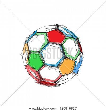 Grunge soccer ball easy all editable
