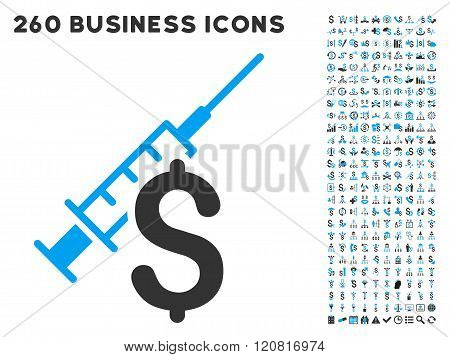 Narcotic Business Icon with Flat Vector Set