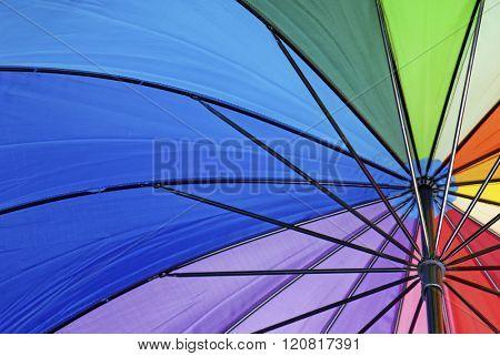 Colorful umbrella background