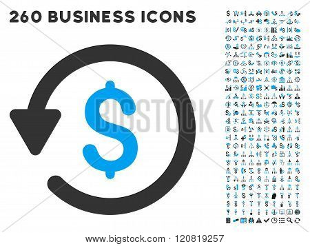 Rebate Icon with Flat Vector Set