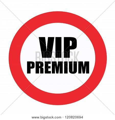 Vip premium black stamp text on white