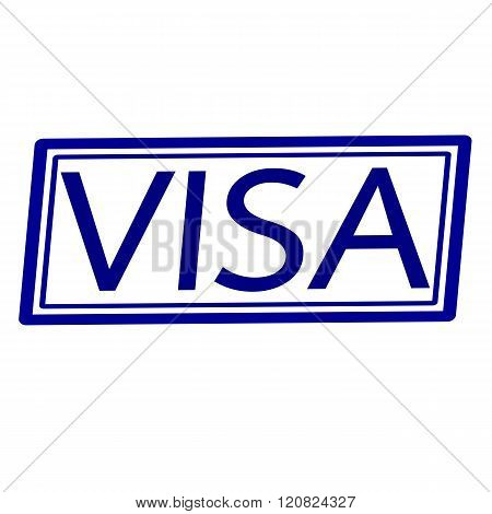 an images of VISA Blue stamp text on white.