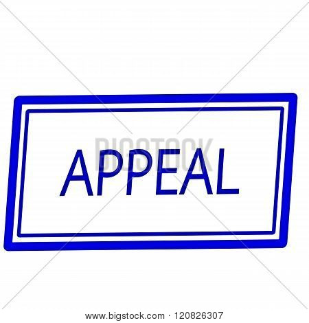 an images of Appeal blue stamp text on white