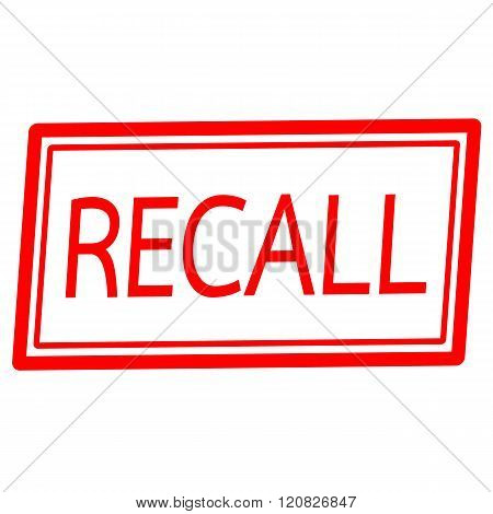 an images of Recall red stamp text on white