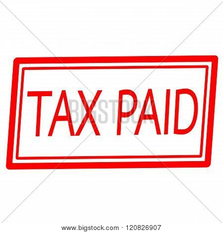 Tax paid red stamp text on white