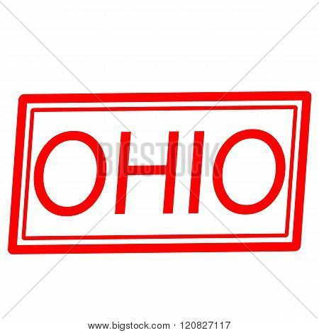 an images of Ohio red stamp text on white