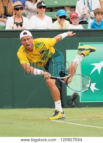 Australian Tennis Player Llayton Hewitt During Davis Cup Doubl