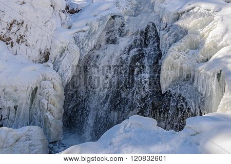 Waterfall Winter Icicle Snow Water