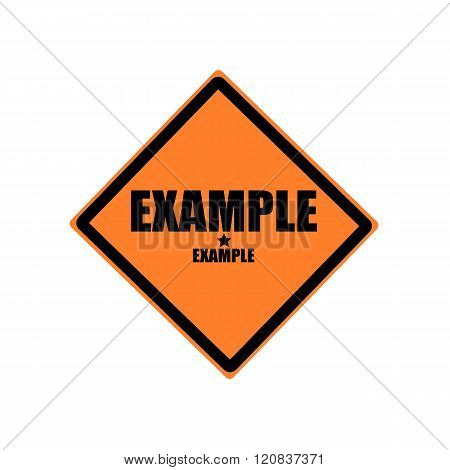 Example Black Stamp Text On Orange Background