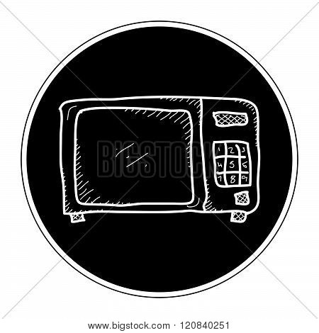 Simple Doodle Of A Microwave