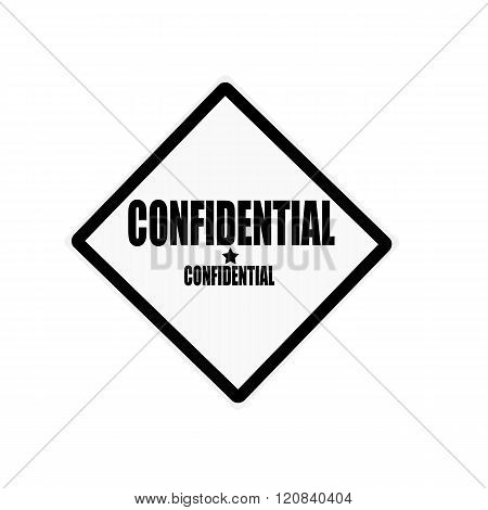 Confidential Black Stamp Text On White Background