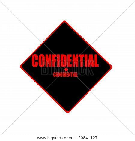 Confidential Red Stamp Text On Black Background