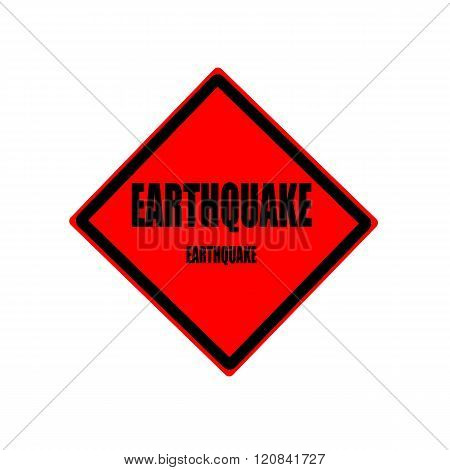 Earthquake Black Stamp Text On Red Background