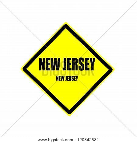New Jersey Black Stamp Text On Yellow Background