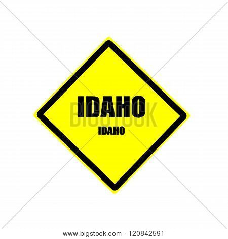 Idaho Black Stamp Text On Yellow Background