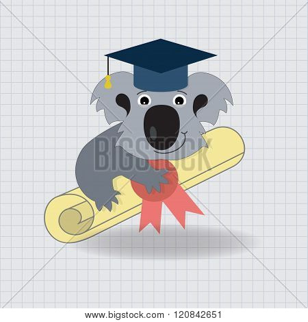 Animala Koala Graduation Icon