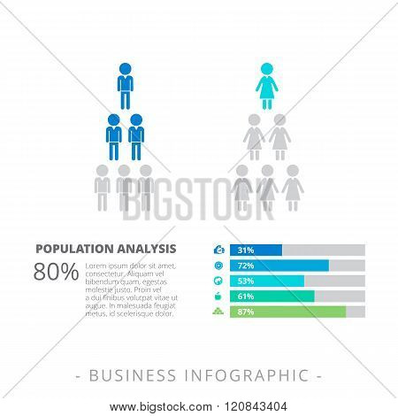 Horizontal Bar Chart Template 1