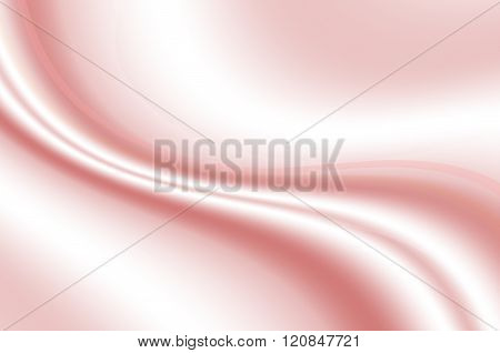 Convex white waves and pink line on gradient wavy pink background
