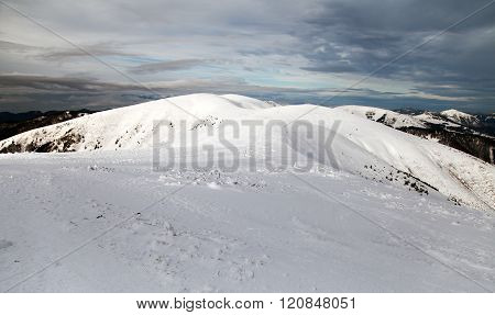 Wintry View From Velka Fatra Mountains - Slovakia