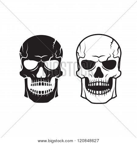 Vector Skull For Tattoo