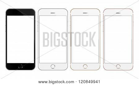 mock up phone collection set vector design isolated on white