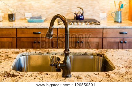 Rubbed Bronze Kitchen Sink And Fixture