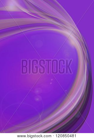 Lines with flares on a purple background
