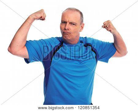 Healthy fitness senior man.