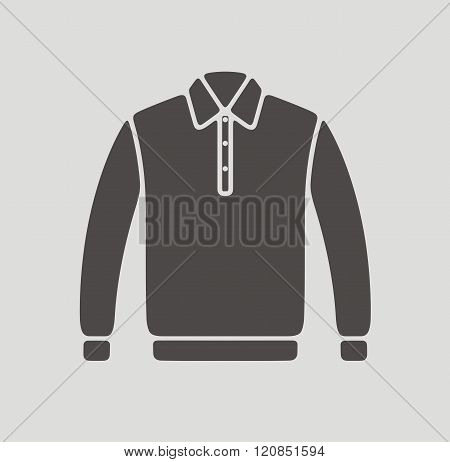 Vector illustration of polo jumper icon on background