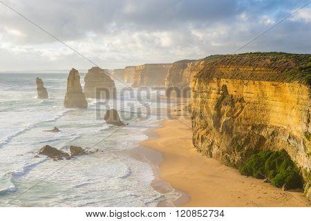 Twelve Apostles in Great Ocean Road in Australia