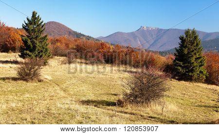 Mount Klak, Mala Fatra From Strazovske Vrchy, Slovakia
