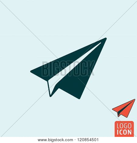 Paper Plane Icon Isolated