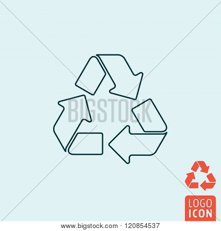 Recycle Icon Isolated