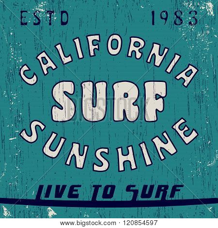 California Vintage Stamp