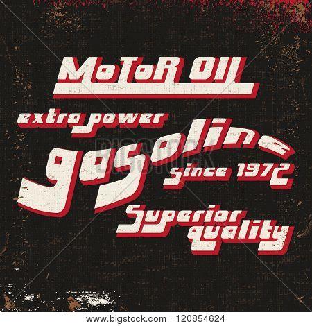 Gasoline Vintage Stamp