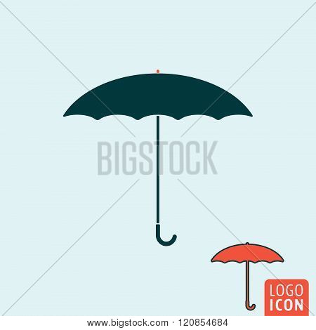 Umbrella Icon Isolated