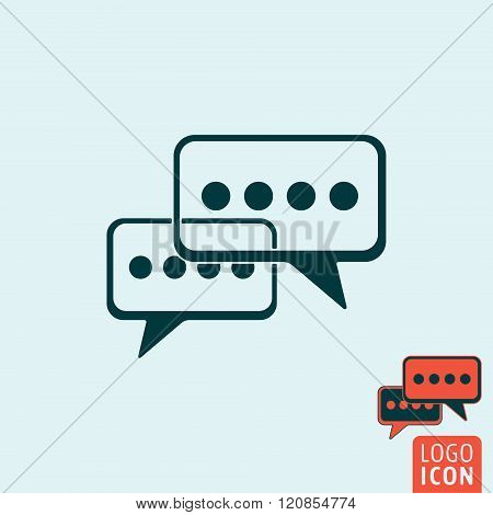 Chat Icon Isolated