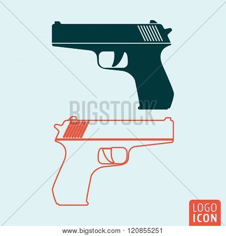 Gun Icon Isolated