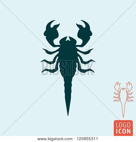 Scorpion Icon Isolated