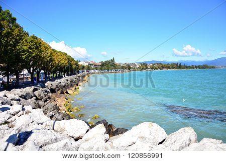 Desenzano town Italy Garda Lake coastline landscape
