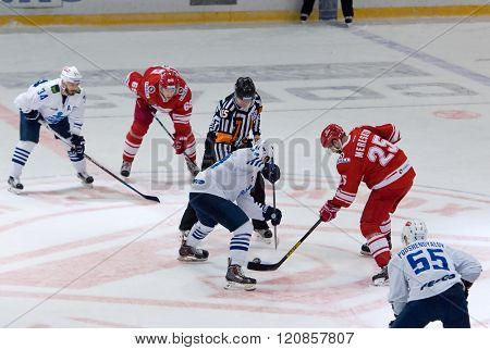 A. Kuznetsov (84) And A. Mereskin (25) On Faceoff