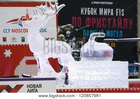 Ice Figures On Pedestal