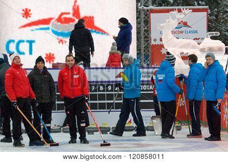 Michel (switz) And Dmitrov (rus) Teams