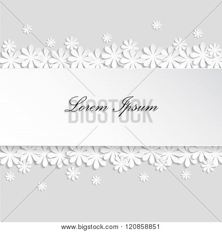 Paper Texture White Wedding Floral Background