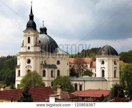 Pilgrimage Church And Monastery In Krtiny Village