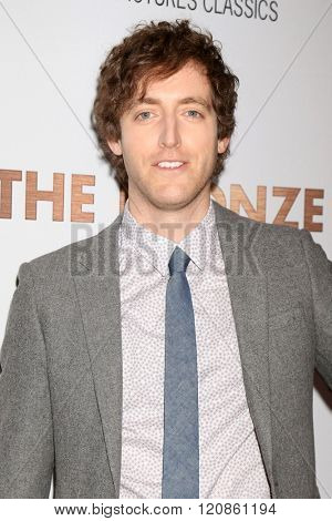 LOS ANGELES - MAR 7:  Thomas Middleditch at the The Bronze Premiere at the SilverScreen Theater at the Pacific Design Center on March 7, 2016 in Los Angeles, CA