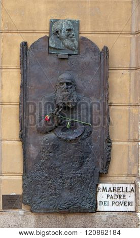 BOLOGNA, ITALY - JUNE 04: Servant of God Olinto Marella father the poor, Bologna, Italy, on June 04, 2015.