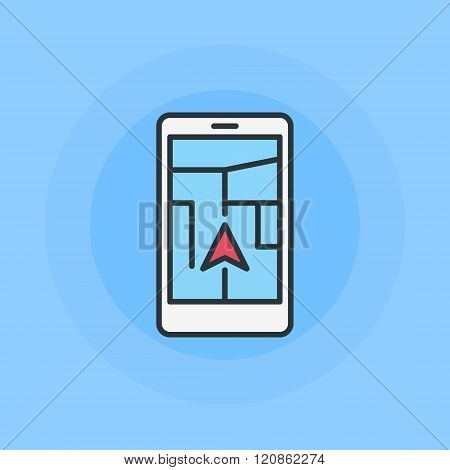 Vector mobile navigation illustration