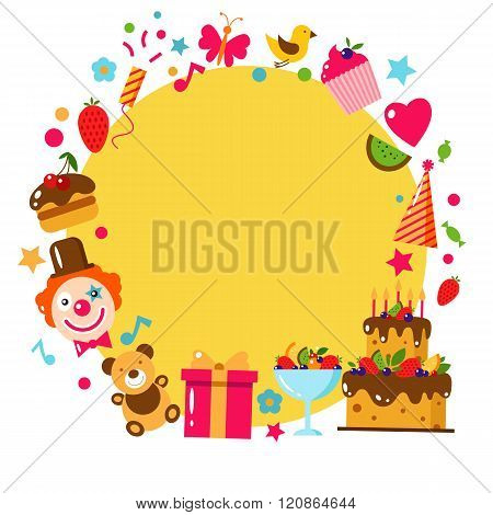 Happy Birthday set, vector illustration